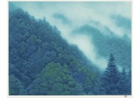 summer mountain and white cloud by shinkichi (kaii) higashiyama