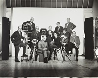 self-portrait with famous photographers, january by irving penn