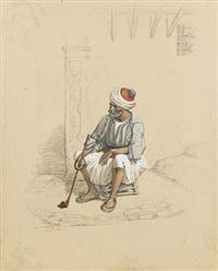 l'homme au turban rouge by emmanuel joseph lauret