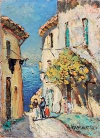 vieille rue à saint charmes by joseph marius hurard