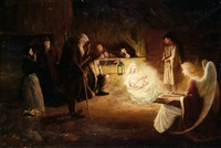 an academic scene of the nativity by adrianus johannes grootens