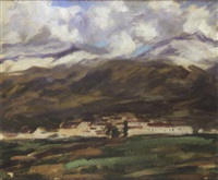 snow on the hills, ronda by william macdonald