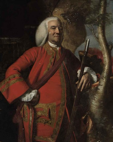 portrait of colonel jacob fowle, with a musket by john singleton copley