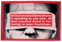 tapis rectangulaire by barbara kruger