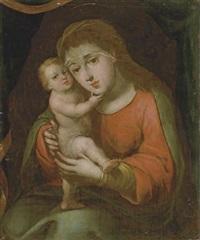 la virgen con el niño jesús by gregorio vásquez de arce y ceballos