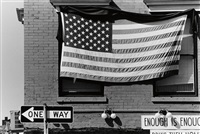 american flag, enough is enough by robert rauschenberg