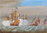 battle at sea by francis swaine