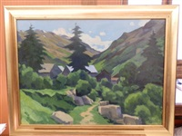 village des alpes by pierre-edmond peradon
