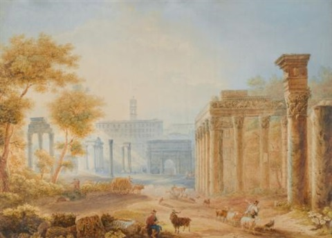 view of the forum rome by henri lévêque
