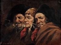 die wirkung des rauchens: drei charakterköpfe by roman arregui