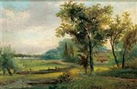 landschaft mit bauernhaus by hermanus jan hendrik rijkelijkhuysen