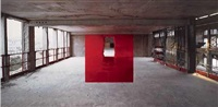paris (carre rouge) by georges rousse