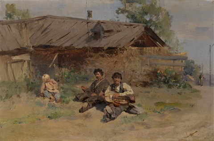 bandura players by konstantin egorovich makovsky
