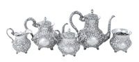 sterling tea and coffee service (5 pieces) by a.g. schultz & co.