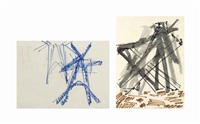 untitled (2 works) by mark di suvero