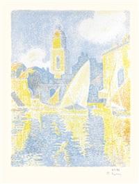 saint-tropez: le port by paul signac