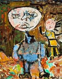boy and girl by kristján davíðsson
