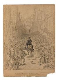 entrée du chevalier renaud en ville by gustave doré