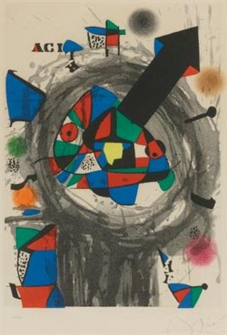 personnage a la flèche noire by joan miró