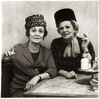 two ladies at the automat, nyc by diane arbus