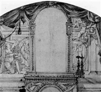 design for an altar by thomas blanchet