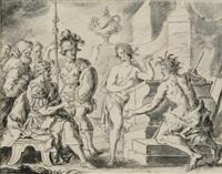 apollo und neptun vor laomedon, dem könig von troja by franz xaver wagenschön