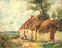 farmhouse, brittany by joseph w. gies