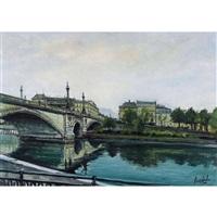 pont de la coulouvrenière à genève by sergio cecchi