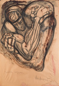 uomo a cuore, medusa, uomo cuore, embrace and crucifixion by ernst neizvestny