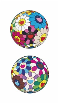 two prints by the artist, comprising: by takashi murakami