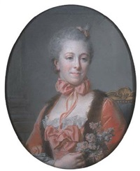 portrait de marie baudard de saint-james by jean valade