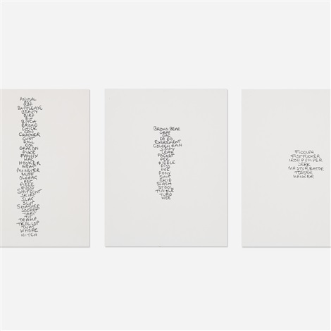 five lists set of 5 by sarah lucas