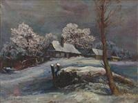 winterszene by josef pilters