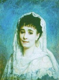 portrait de jeune femme espagnole by etienne billet