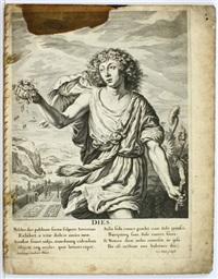 duodecium mensium nec non diei et noctis icones (folge der 12 monate mit tag- und nachtdarstellung) (set of 14) by joachim von sandrart the elder