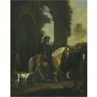 riders in a landscape by hendrick verschuring