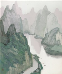 misty mountains by pang jun