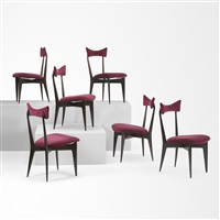 dining chairs, set of six by ico parisi