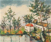 moulin sur la rivière by elisée maclet