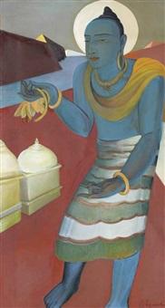 blue buddha by g. m. solegaonkar