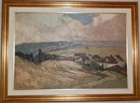 paysage au clocher by henry grosjean