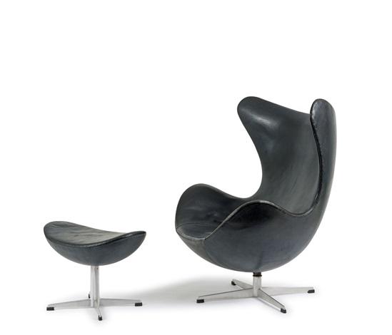 Sessel Egg Chair Mit Ottoman By Arne Jacobsen On Artnet