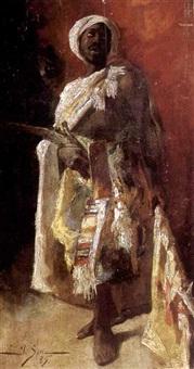a standing arab by josé serra y porson