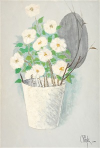 bucket with flowers by constantin piliuta