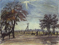 landschaft mit strasse by waldemar roesler