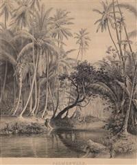 urwald auf ceylon (+ palmwald; pair) by hermann reichsfreiherr von königsbrunn