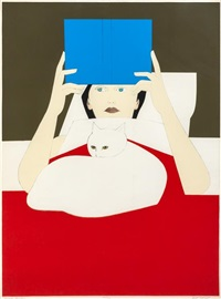 woman reading by will barnet