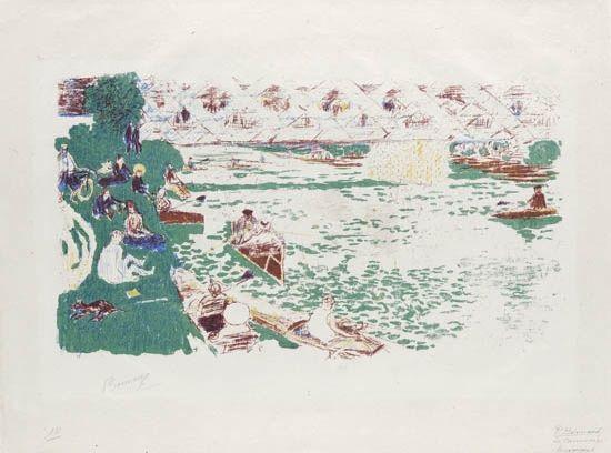 la canotage (from album d'estampes originales) by pierre bonnard