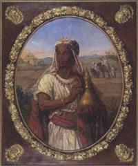 prince nubien tenant un vase à parfum by victor livache