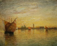 venice at sunset by walter franklin lansil